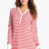 PJ Salvage Brushed Thermal Sleep Shirt | Nordstrom