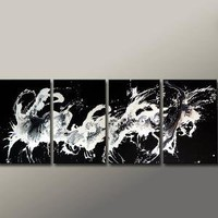 Huge 4PC Original Custom Made ABSTRACT Modern by wostudios on Etsy