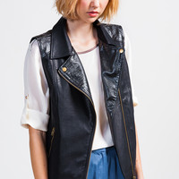 Leather Moto Vest