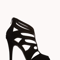Stellar Cutout Peep Toe Booties