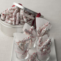 White-Chocolate Peppermint Pretzels
