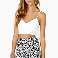 Babette Faux Leather Crop Tank