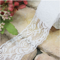 White Lace Pattern Fabric Tape v2