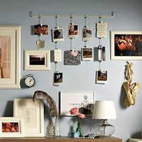Amazon.com: Ikea Fiskevik Picture Holder Frame Hang up to 15 Photos: Home & Kitchen