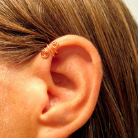No Piercing Spiral Up Ear Cuff for Upper Ear by ArianrhodWolfchild