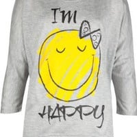 Amazon.com: FULL TILT I'm Happy Girls Tee: Clothing