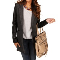 Gray Tweed Trench Coat