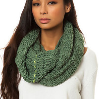 Spacecraft Scarf Parker Infinity Hooded in Fern Green
