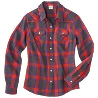 Mossimo Supply Co. Juniors Long Sleeve Plaid Flannel Shirt - Assorted Colors