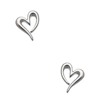 Kit Heath Silver Precious Heart Stud Earrings - Max & Chloe