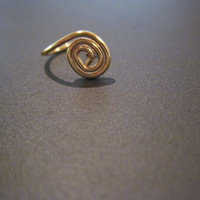 No Piercing Tiny Spiral Nose Cuff /Ring 1 by ArianrhodWolfchild