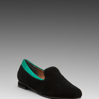 Seychelles Best For Last Loafer in Black Suede