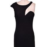 Vanity Fair Cutout Dress - Black -  $52.00 | Daily Chic Dresses | International Shipping