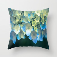 Peek -A- Blue Throw Pillow by Ann B.