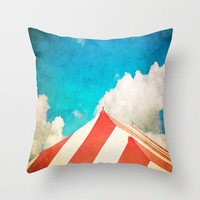 Under the Big Top Throw Pillow by Ann B.