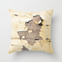 vintage - golden times Throw Pillow by Steffi by findsFUNDSTUECKE