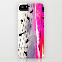 City Birds iPhone & iPod Case by Louise Machado