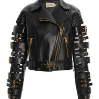 Straps And Buckles Motorcycle Jacket by Fausto Puglisi - Moda Operandi
