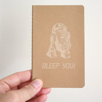r2d2 bleep you cahier moleskine notebook. Unlined.