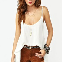 Abrielle Tank - Ivory in What&#x27;s New at Nasty Gal