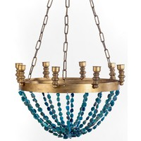 Ro Sham Beaux Gigi Chandelier - Blue Agate Beads