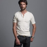 Men's tees, polos & fleece - short-sleeve tees - Homespun short-sleeve henley - J.Crew