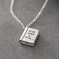 'Once Upon A Time' Silver Story Book Necklace
