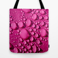 Rain - In the Pink Tote Bag by Alice Gosling