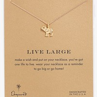 Dogeared 'Reminder - Live Large' Boxed Elephant Pendant Necklace | Nordstrom