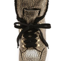 Marc by Marc Jacobs Sherpa Lined Metallic Wedge Sneakers | SHOPBOP