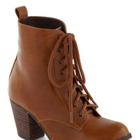 Step it Upright Bootie in Whiskey | Mod Retro Vintage Boots | ModCloth.com
