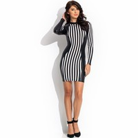 Stripe It Rich Contrast Dress - GoJane.com