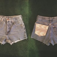 High Waisted Shorts with Tribal Pocket