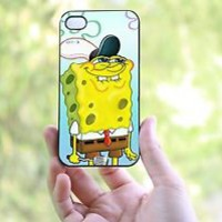 spongebob for iphone 4/4s,5/5s,5c and galaxy s3,s4,bbz10 case