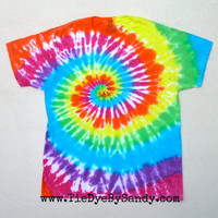 Large Rainbow Spiral Tie Dye Shirt