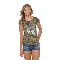 Southpole- -Junior's Military T-Shirt-Clothing-Juniors-Tops