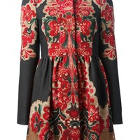 Red Valentino Floral Print Coat - Smets - Farfetch.com