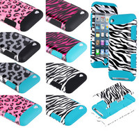 Deluxe 3Piece Hard Case Cover Skin For iPod Touch 4 4G 4Th Gen + Protector