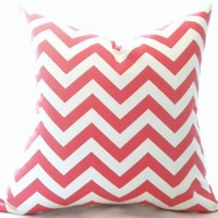 christmas pillow cover, red chevron pillow cover, toss pillow, throw pillow, cushion cover,