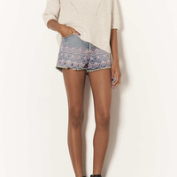 MOTO Embroidered Hotpants - Shorts - Clothing - Topshop USA