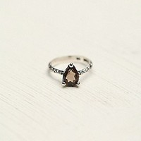 Free People Womens Tear Drop Stone Ring - Earth,
