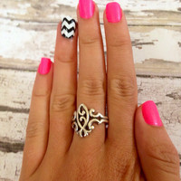 Chevron Nail Decals by TexasRoots on Etsy
