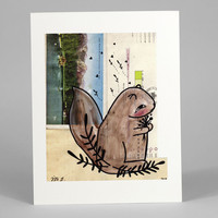 Squirrel with Postcard