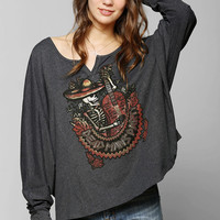 Lyric Culture Dead Man?s Party Dolamn Henley Tee - Urban Outfitters