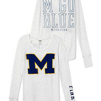 University of Michigan Long-sleeve Thermal Tee - PINK - Victoria's Secret