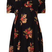 Maternity Autumn Floral Tea Dress - Maternity  - Clothing