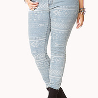 Understated Tribal Print Skinny Jeans