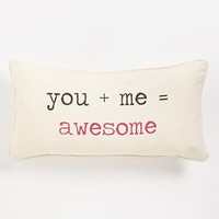 Levtex 'You + Me = Awesome' Pillow