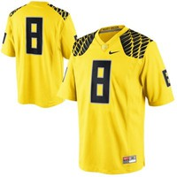 Nike Oregon Ducks #8 Game Football Jersey - Yellow
