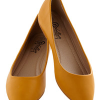 Defined the Scenes Flat in Mustard | Mod Retro Vintage Flats | ModCloth.com